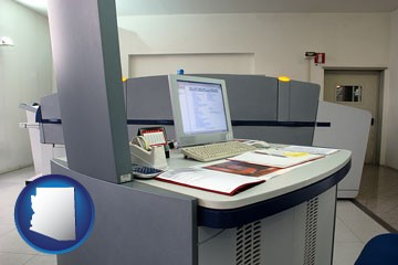 desktop publishing equipment - with Arizona icon
