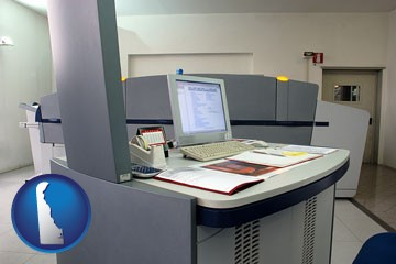 desktop publishing equipment - with Delaware icon