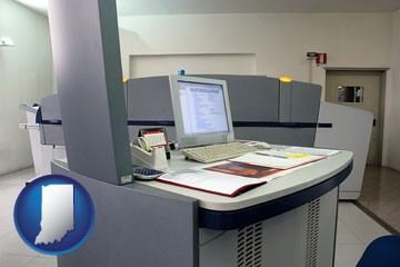 desktop publishing equipment - with Indiana icon