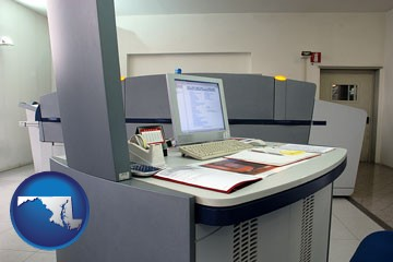 desktop publishing equipment - with Maryland icon