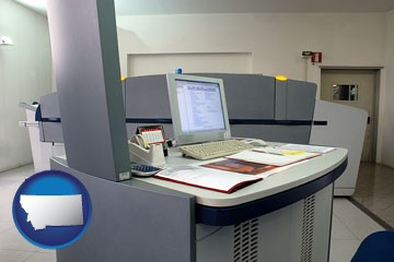 desktop publishing equipment - with Montana icon