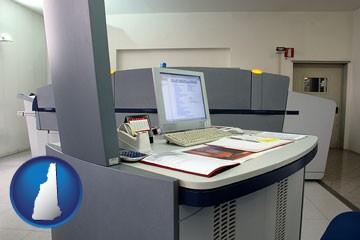 desktop publishing equipment - with New Hampshire icon