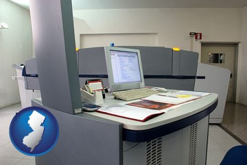 desktop publishing equipment - with New Jersey icon