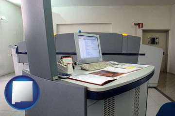 desktop publishing equipment - with New Mexico icon