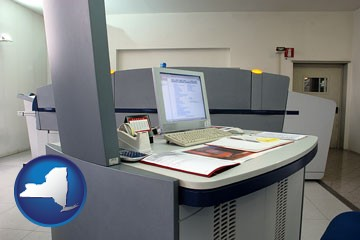 desktop publishing equipment - with New York icon