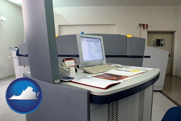 desktop publishing equipment - with Virginia icon